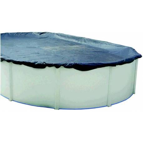 Cubierta de invierno para piscina ovalada de 550x366cm