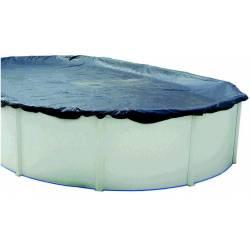 Cubierta de invierno para piscina ovalada de 640x366cm
