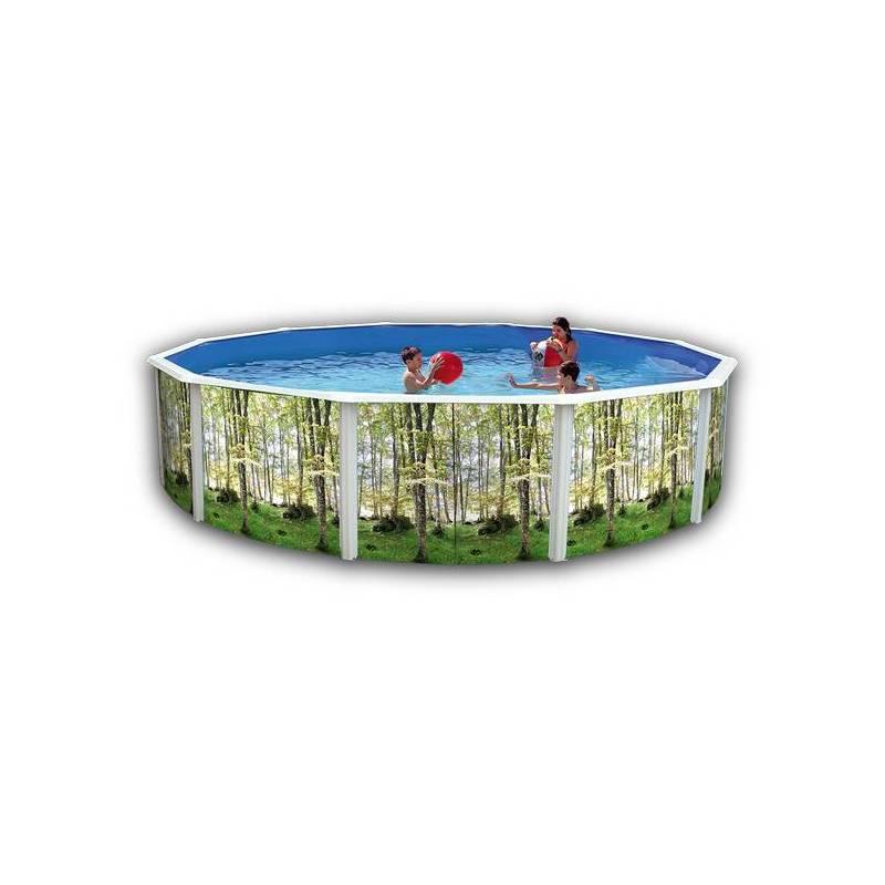 Piscina de 640cm decorada redonda toi fercandao s l for Piscina redonda grande
