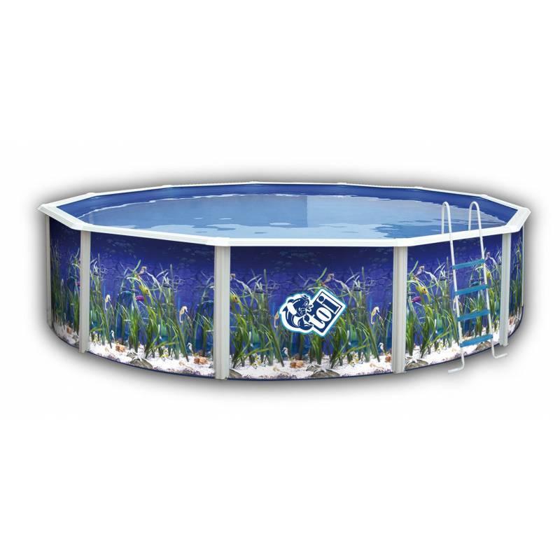 Piscina de 640cm decorada redonda toi fercandao s l for Funda piscina redonda