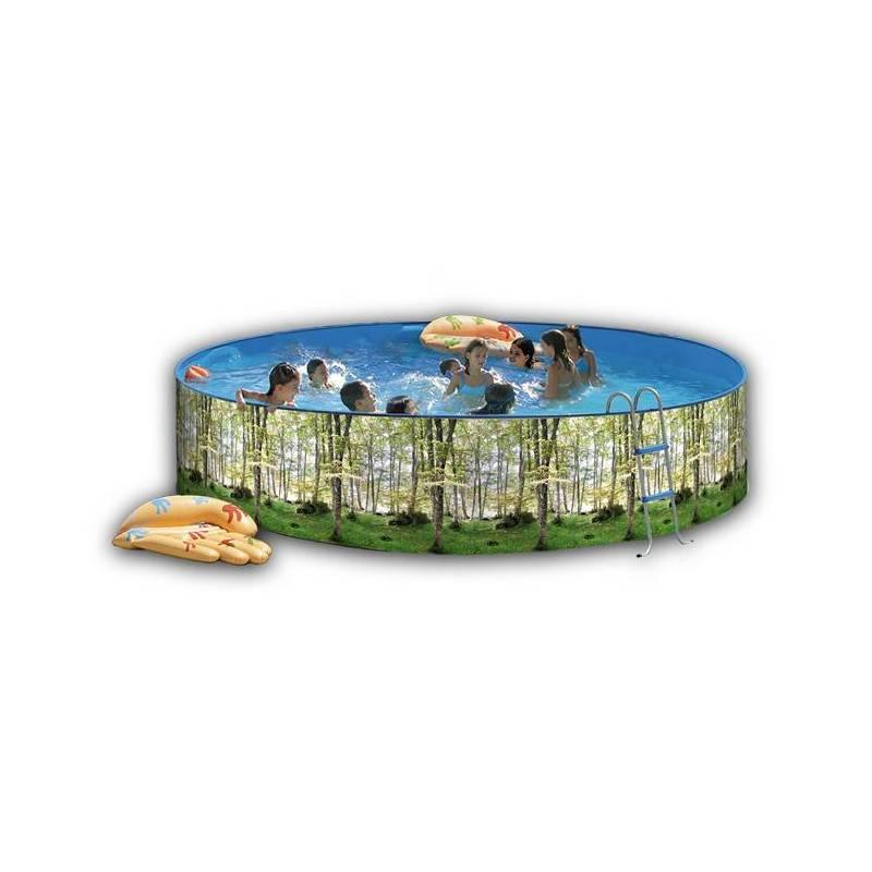Piscina de 350cm decorada redonda toi 90cm fercandao s l for Piscina redonda grande
