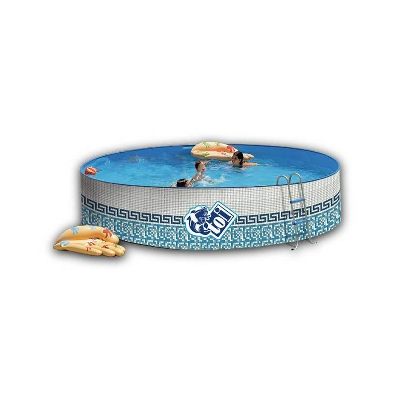 Piscina de 350cm decorada redonda toi 90cm fercandao s l for Funda piscina redonda