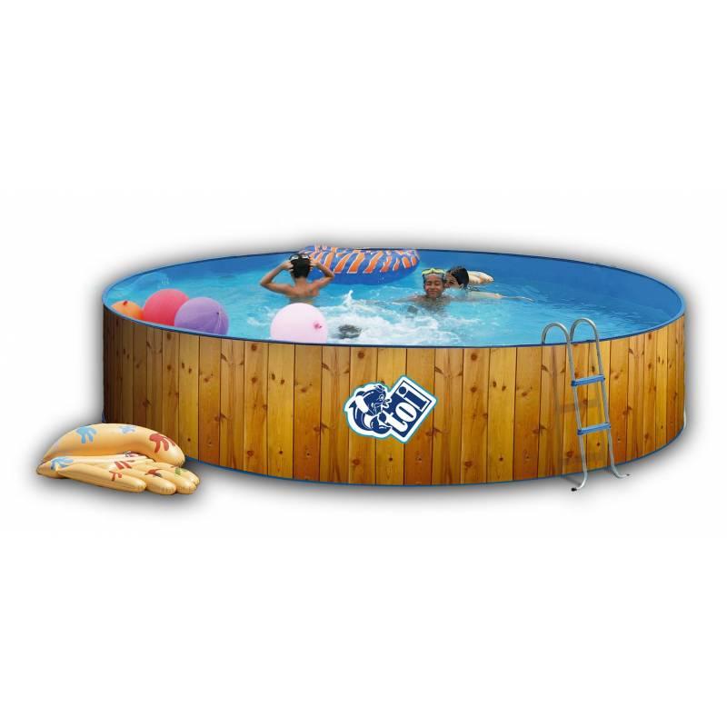 Piscina de 400cm decorada redonda toi 90cm serie promo for Funda piscina redonda