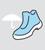 Calzado con piel hidrófuga